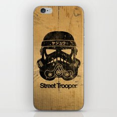 BEAST Street Trooper Head (Black on Cardboard) iPhone & iPod Skin
