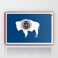 wyoming state flag united states of america country Laptop & iPad Skin