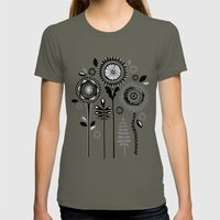 Folksy Flowerheads Womens Fitted Tee Lieutenant SMALL