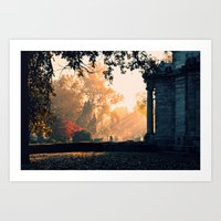 Fall Morning At Green La… Art Print