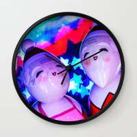 Merry Kokeshi Klause Wall Clock