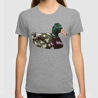 Mallard Womens Fitted Tee Tri-Grey SMALL