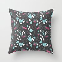 Nighttime Dandelions Throw Pillow