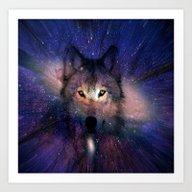 Wolf Energy Art Print