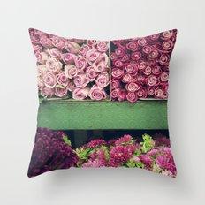 Flower Market Colorblock Throw Pillow