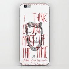 I think of you iPhone & iPod Skin