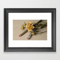 Dried flower Framed Art Print