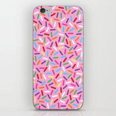 Pink Donut with Sprinkles iPhone & iPod Skin