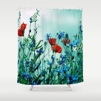 Cornflowers, Poppies And… Shower Curtain