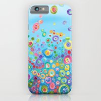 iPhone & iPod Case featuring Inner Circle - Blue by Catherine Holcombe