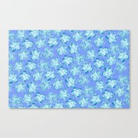 Wallflower - Colony Blue Canvas Print