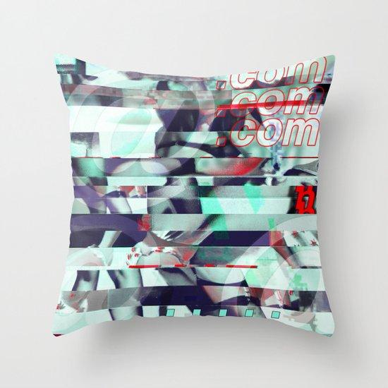 Glitch Decon 3 Throw Pillow