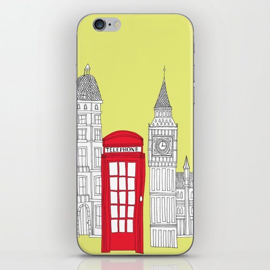 Capital Icons III // London Red Telephone Box iPhone & iPod Skin