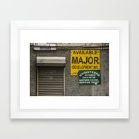 Untitled, Yellow and Green Signs Framed Art Print