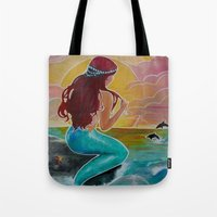 Tropical Tails Tote Bag