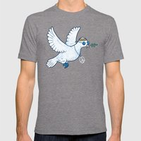 Hippie Dove Mens Fitted Tee Tri-Grey SMALL
