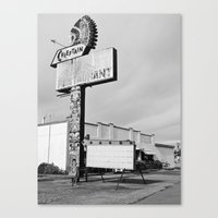 Once a diner Canvas Print