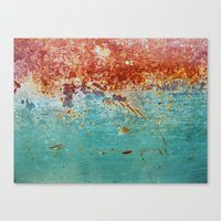 Teal Rust Canvas Print