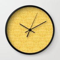 Cloud Factory Damask - P… Wall Clock