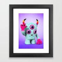 Bull's Eye Pixy Framed Art Print