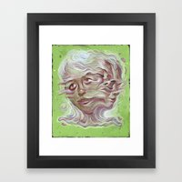 Pink Elbows Framed Art Print