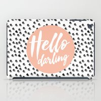 Hello Darling Spots - Pe… iPad Case