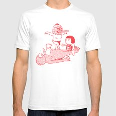Sleeping SMALL Mens Fitted Tee White
