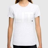 LIT Womens Fitted Tee Ash Grey SMALL