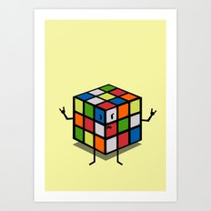 Rebel Rubik Art Print