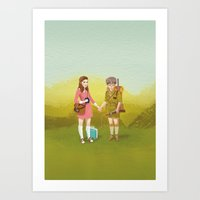 moonrise kingdom Art Prints featuring Moonrise Kingdom by Roland the Illustrator