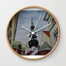 roof geometry Wall Clock