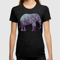 1000 Words On Twilight A… Womens Fitted Tee Tri-Black SMALL