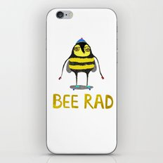 Bee. bee art, bee illustration, nature, illustration, wall, kids, skater, skateboarding, rad,  iPhone & iPod Skin