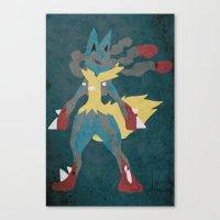 Mega Lucario Canvas Print
