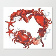 Mer Party Canvas Print