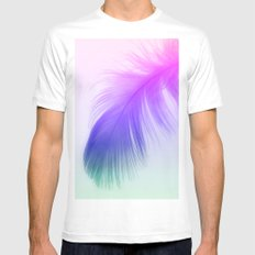 Painted Feather Mens Fitted Tee SMALL White