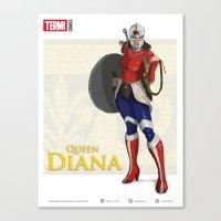 QUEEN DIANA (Silver) Canvas Print