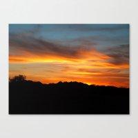 Painted Desert Sunset Canvas Print