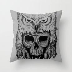 Owlskull Throw Pillow
