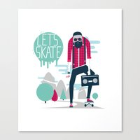 Let's Skate  Canvas Print