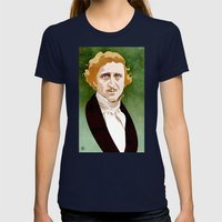 Young Frankenstein Womens Fitted Tee Navy SMALL