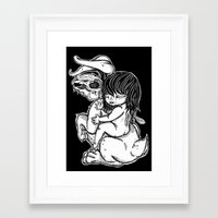I Don't Know Framed Art Print