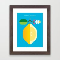 Fruit: Lemon Framed Art Print
