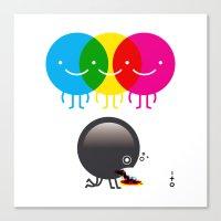 CMY makes K dizzy Canvas Print