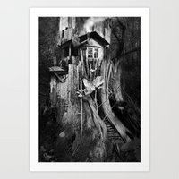 COTTAAGE TREE Art Print