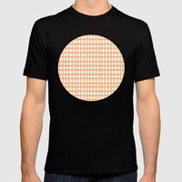 LINES In APRICOT Mens Fitted Tee Black SMALL