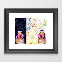 Cupid Waiting List Framed Art Print