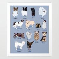 14 Dogs & Kitties Art Print