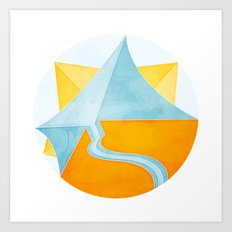 The Little Boat Under the Sun Art Print