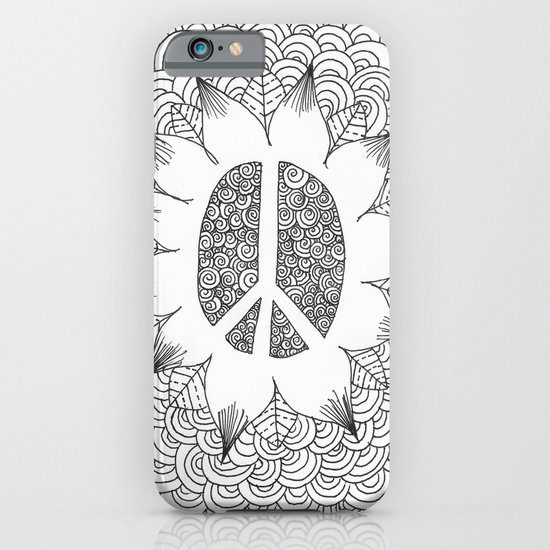 Peace Doodle iPhone & iPod Case